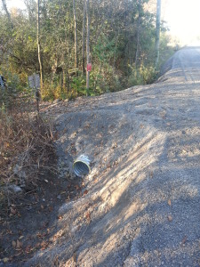 Photo of installed culvert.