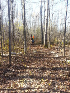 President Dave Baker helping cut new trails in Ottawa.